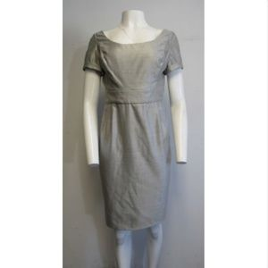 BILL BLASS heathered grey straight cut dress sz 8